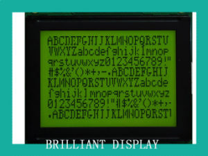 Stn Yellow-Green Transflective 128*64 Dots LCD Module with RoHS (VTM12864C50)