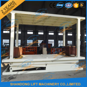 Stationary Heavy Duty Double Parking Car Lift in Floor Scissor Car Lift pictures & photos