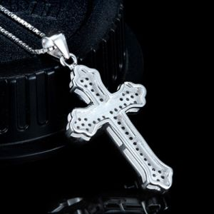 Real 925 Sterling Silver Cross Pendant Necklace with 18 Inch 925 Sterling Silver Chain Necklace High Quality Jewelry pictures & photos