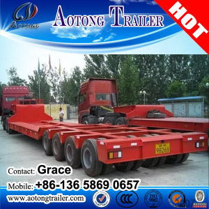 Heavy Duty Low Bed Tractor Trailers / 60-100ton Low Bed Truck Trailer pictures & photos