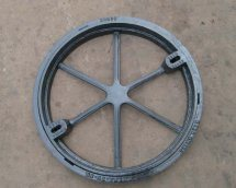Round Ductile Iron Manhole Cover for Cement