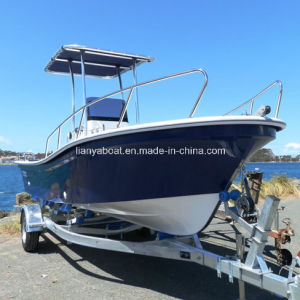 Liya 5.8m Fiberglass Fishing Boat with Motor Panga Boat for Sale pictures & photos