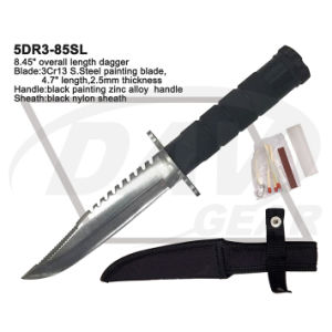 "8.45"" Overall Zinc Alloy Handle Dagger with Brushed Blade: 5dr3-85SL pictures & photos"