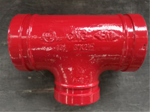 "3""*21/2"" Grooved Tee, FM and UL Approved, Grooved Fitting. pictures & photos"