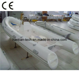 Deep-V Fiberglass Rigid Inflatable Boat for 6p with CE (RIB400) pictures & photos