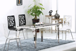 Steel Table with Butterfly Design/Marble Table/Glass Table (515E)