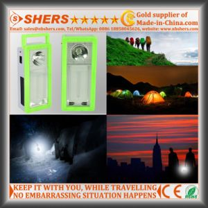 Rechargeable Solar Emergency Light with 1W Flashlight, USB Outlet (SH-1903A) pictures & photos