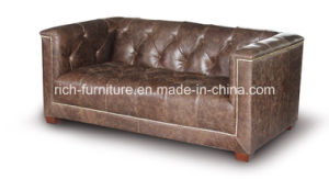 New Design Amercian Style Vintage Leather Sofa (Living Room Sofa) pictures & photos