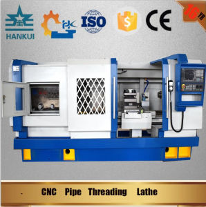 Qk1335 Pipe Treading CNC Lathe Machine Price pictures & photos