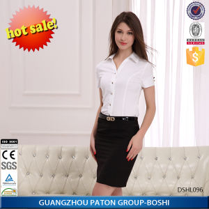 Women′s Business Shirts, Women′s White Short Sleeve Shirt-Dshl096 pictures & photos