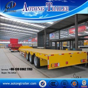 China Excavator Transport Gooseneck Lowboy Low Bed Semi Trailer pictures & photos