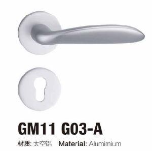 Good Quality Simple Design Aluminium Rosette Door Handle Lock (G11 G03 /G22 G03) pictures & photos