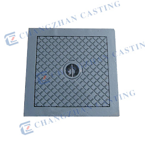 En 124 Ductile Iron or Gray Iron Square Manhole Covers pictures & photos