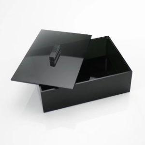 Elegant Black Acrylic Jewelry Storage Box with Lid pictures & photos