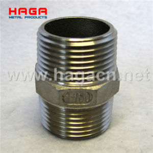 Hex Nipple Stainless Steel Screwed Pipe Fitting pictures & photos