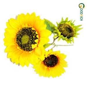 Sunflower Artificial Flower with 3 Heads pictures & photos