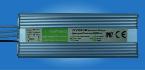 200W Waterproof Constant Voltage LED Driver with PFC (GPE-WLD-200V) pictures & photos
