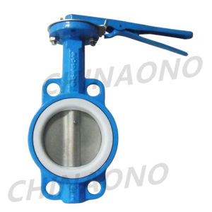 Cast Iron Wafer Soft Sealing Butterfly Valve pictures & photos