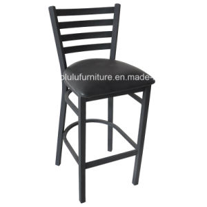 Black Ladder Back Bar Stools for Restaurant Furniture (ALL-77BS)