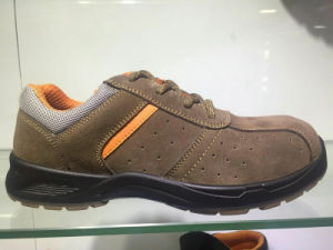 En345 New Design Colour Safety Shoes with Suede Leather