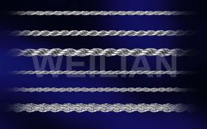 Rhodium Plated Shiny Chain, Silver Rope Chain, 925 Silver Necklace pictures & photos