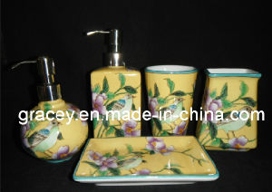 Ceramic Bathroom Ware Sanitary Product Set with Hand Painting (FY2129)