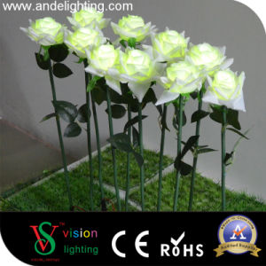 Simulation LED White Rose Flower Light pictures & photos