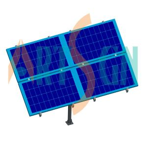 3 Modules Solar PV Pole Ground Mounting Racking System pictures & photos