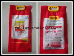 Custom Printed 5kg Plastic Rice Rice Package Bag with Handle pictures & photos