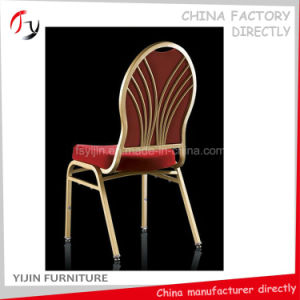 Design Latest Steel Gold Modern Hotel Dinner Chair (BC-165) pictures & photos