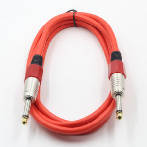 Colorful Assembly Guitar Speaker Cable 6.35mm Ts Male to Male pictures & photos