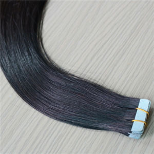 100% Real Human Hair Tape Hair Extension with Natural Color pictures & photos
