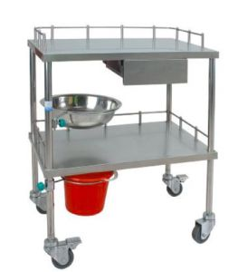 High Quality Stainless Steel Medical Trolley with Drawer pictures & photos