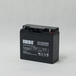 Solar Battery 12V15ah High Quality Solor System AGM Lead Acid Battery pictures & photos