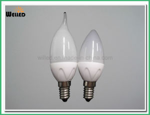 Tailed Dimmable LED Candle Light 5W 80ra 400lm E14 E27 B22 with Ceramic Housing pictures & photos