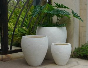 Outdoor Large Flower Planter Pot with Oval Design