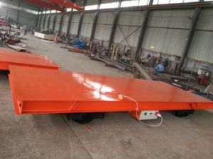 Industrial Motorized Battery Driven Transfer Flat Cart pictures & photos