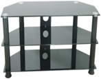 Hot Sell Morden Design TV Glass Stand (TS003) pictures & photos