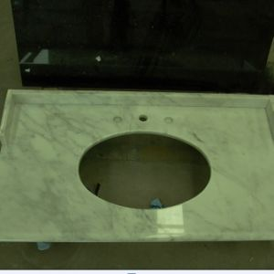 Lightening White Snow White Marble Vanity Top pictures & photos