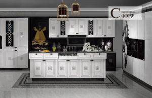 Tradintional PVC Doos Kitchen Cabinets (K-008) pictures & photos