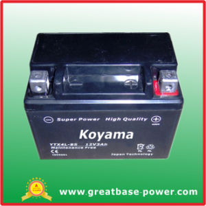 Sealed Motor Battery Ytx4l-Bs (3ah 12V) pictures & photos