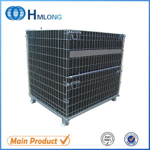 Folding Stackable Steel Wire Mesh Container for Storage pictures & photos