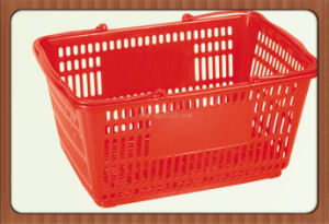 China Durable Plastic Supermarket Shopping Basket with Superior Quality Manufacturer