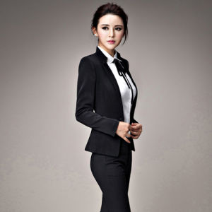 Business Women Use Custom Fashion Sexy Collar Skirt Suit pictures & photos