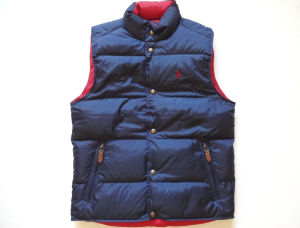 The Most Popular Reversible Navy Blue & Red Puffer Down Vest pictures & photos