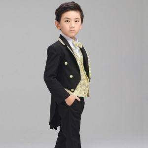 2017 Hot Wedding Custom Made Black Baby Boy Tuxedo pictures & photos