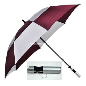 Manual Open Double Layer Windproof Golf Umbrella (JX-U214)