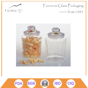 500ml Glass Storage Jar with Glass Lid pictures & photos