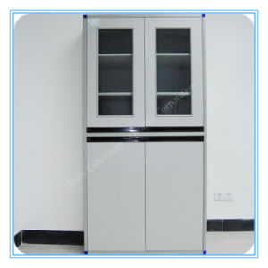 Factory Direct Sell Lab Wooden Storage Cabinets with Glass Door pictures & photos