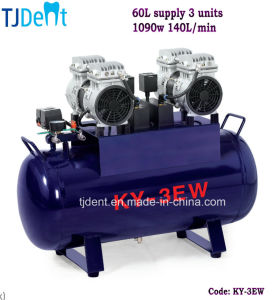 Dental 60L Supply Three Units Material Screw Air Compressor pictures & photos